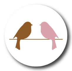 Two sparrows badge