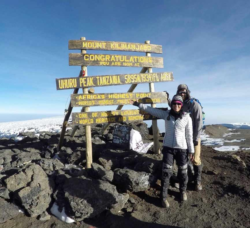 Life coaching - brings about joy and purpose - my son and I on Kilimanjaro.